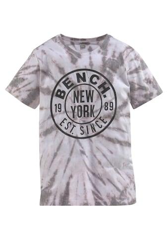 Bench. T - Shirt »in toller Batikoptik« kaufen