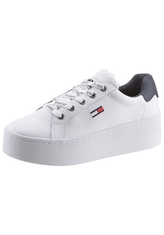 TOMMY JEANS Plateausneaker »ICONIC LEATHER FLATFORM SNEAKER« kaufen