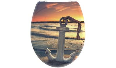 welltime WC-Sitz »Sunset«, hochwertiger abnehmbarer Premium-Toilettendeckel mit... kaufen