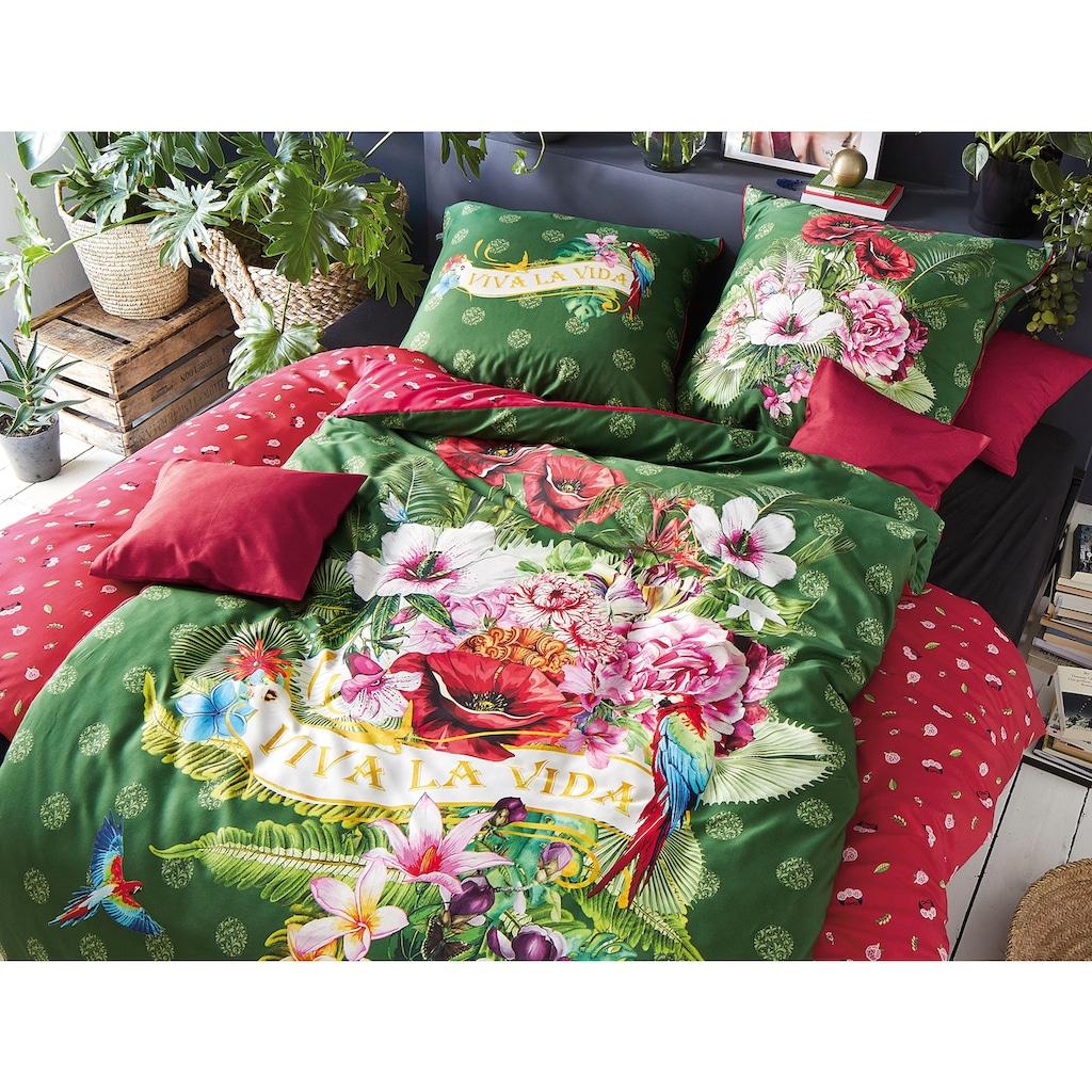 Irisette Wendebettwäsche »Juwel 8823«, mit floralem Muster und Schriftzug