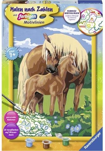 Ravensburger Malen nach Zahlen »Liebevolle Pferde«, Made in Europe kaufen