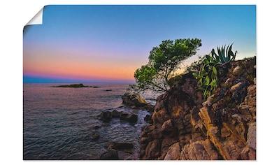 Artland Wandbild »Abendstimmung an der Costa Brava« kaufen