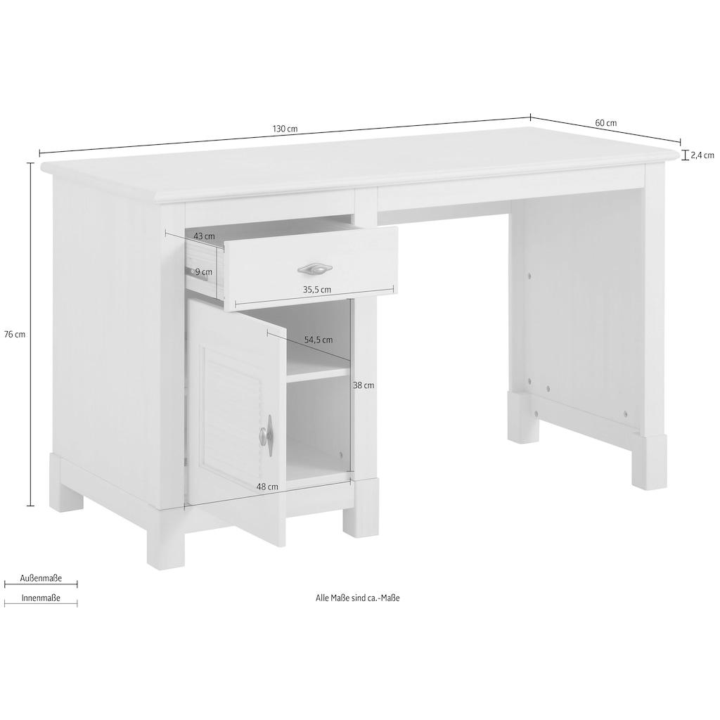 Home affaire Schreibtisch »Rauna«, aus massiver Kiefer
