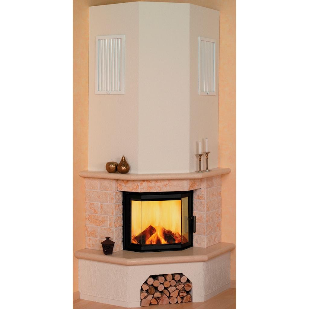 HARK Kaminbausätze »Vermont echter Marmor classico-beige«, 8 kW, Eckmodel