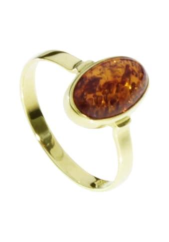 OSTSEE-SCHMUCK Fingerring »- Classic 11x7 mm - Gold 333/000 - Bernstein«, (1 tlg.) kaufen