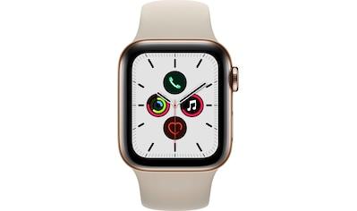 Apple Series 5 GPS + Cellular, Edelstahlgehäuse mit Sportarmband 40mm Watch (Watch OS 6) kaufen