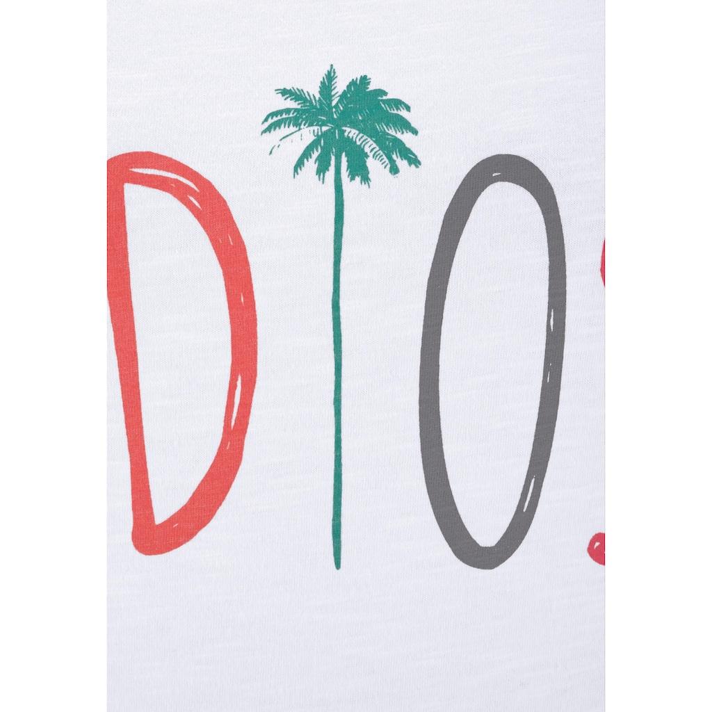 """Beachtime T-Shirt, mit modischem Sprüche Frontdruck """"Adios"""""""