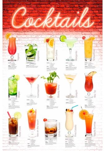 Deco - Panel »Cocktails  -  englisch« kaufen