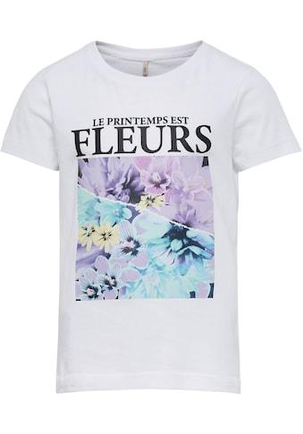 KIDS ONLY T-Shirt »KONPENELOPE«, mit tollem Blumenmotiv kaufen