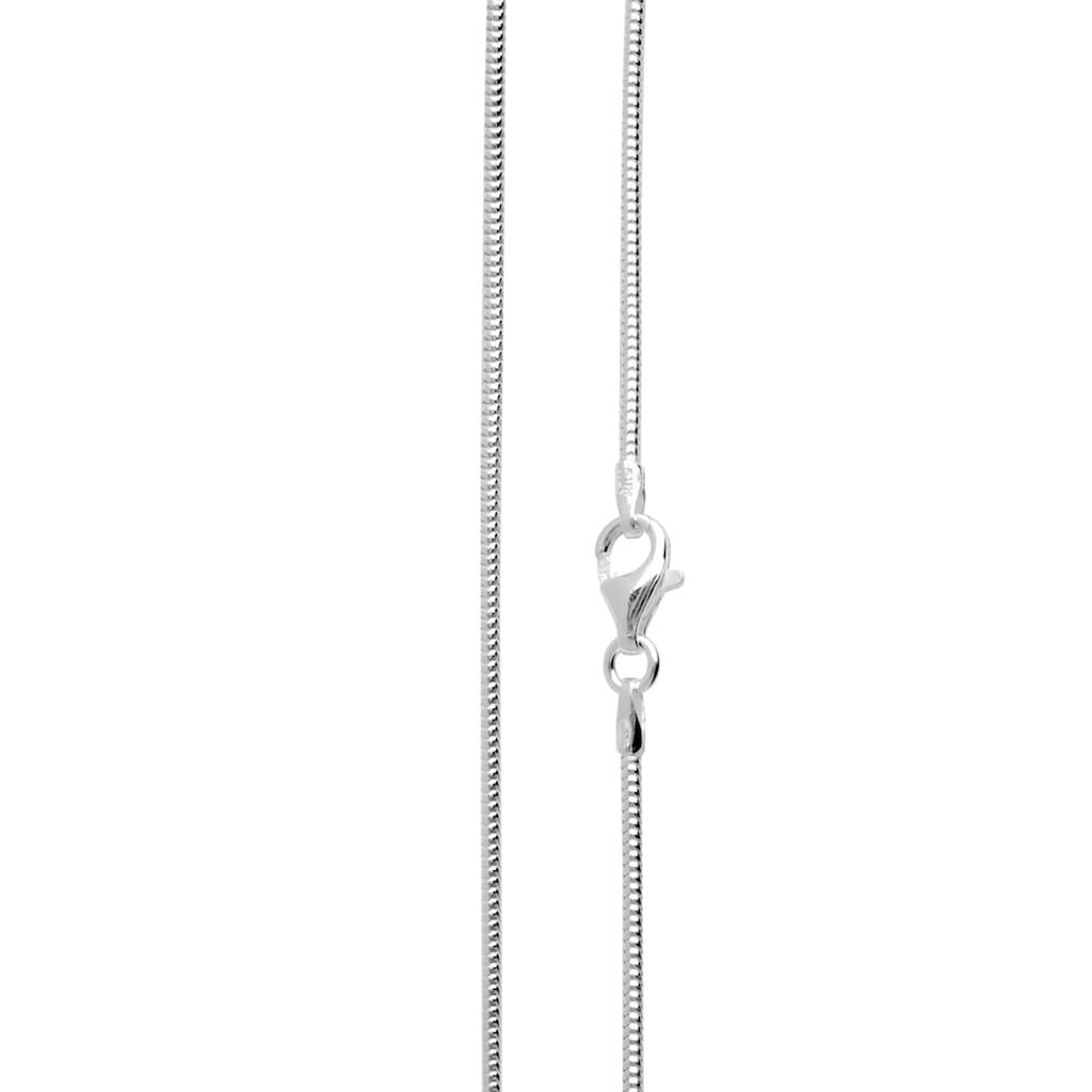 OSTSEE-SCHMUCK Silberkette »- Schlange 1,2 mm - Silber 925/000 -,«, (1 tlg.)