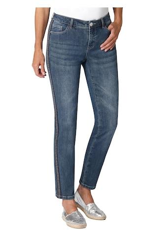 Ambria Jeans mit Galonstreifen mit Querstruktur und Glanz - Elementen kaufen