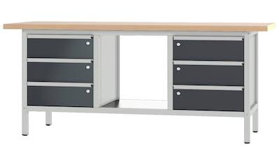 PADOR Werkbank »31 S 303/20 R«, B/T/H: 200x70x85,5 cm kaufen