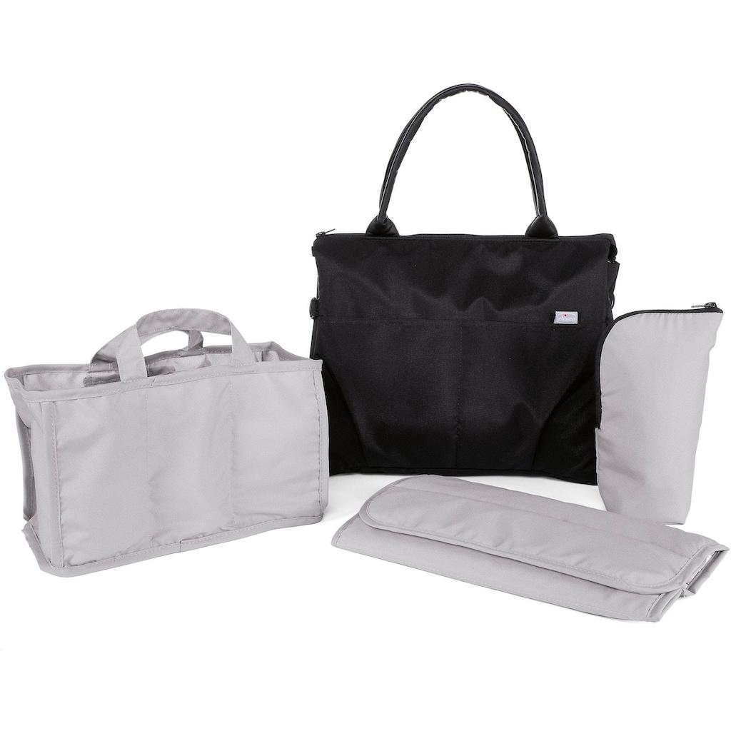 Chicco Wickeltasche »Organizer Bag, Pure Black«, mit Rucksackfunktion und Wickelunterlage