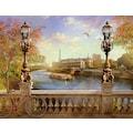 Papermoon Fototapete »Panorama von Paris«, Vliestapete, hochwertiger Digitaldruck