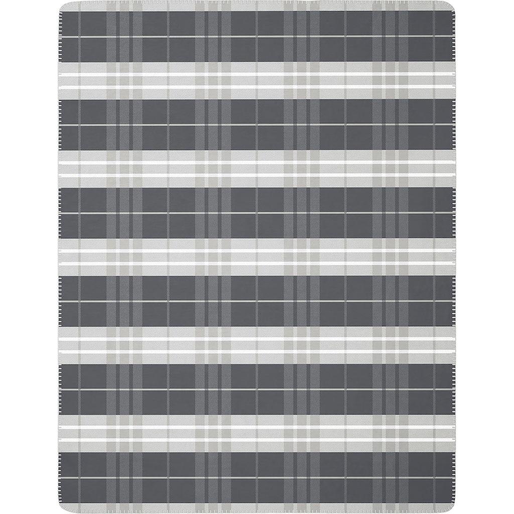 BIEDERLACK Wohndecke »Continous Grey«, klassisches Karo