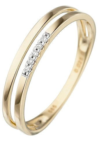 JOBO Diamantring, 585 Gold mit 5 Diamanten kaufen