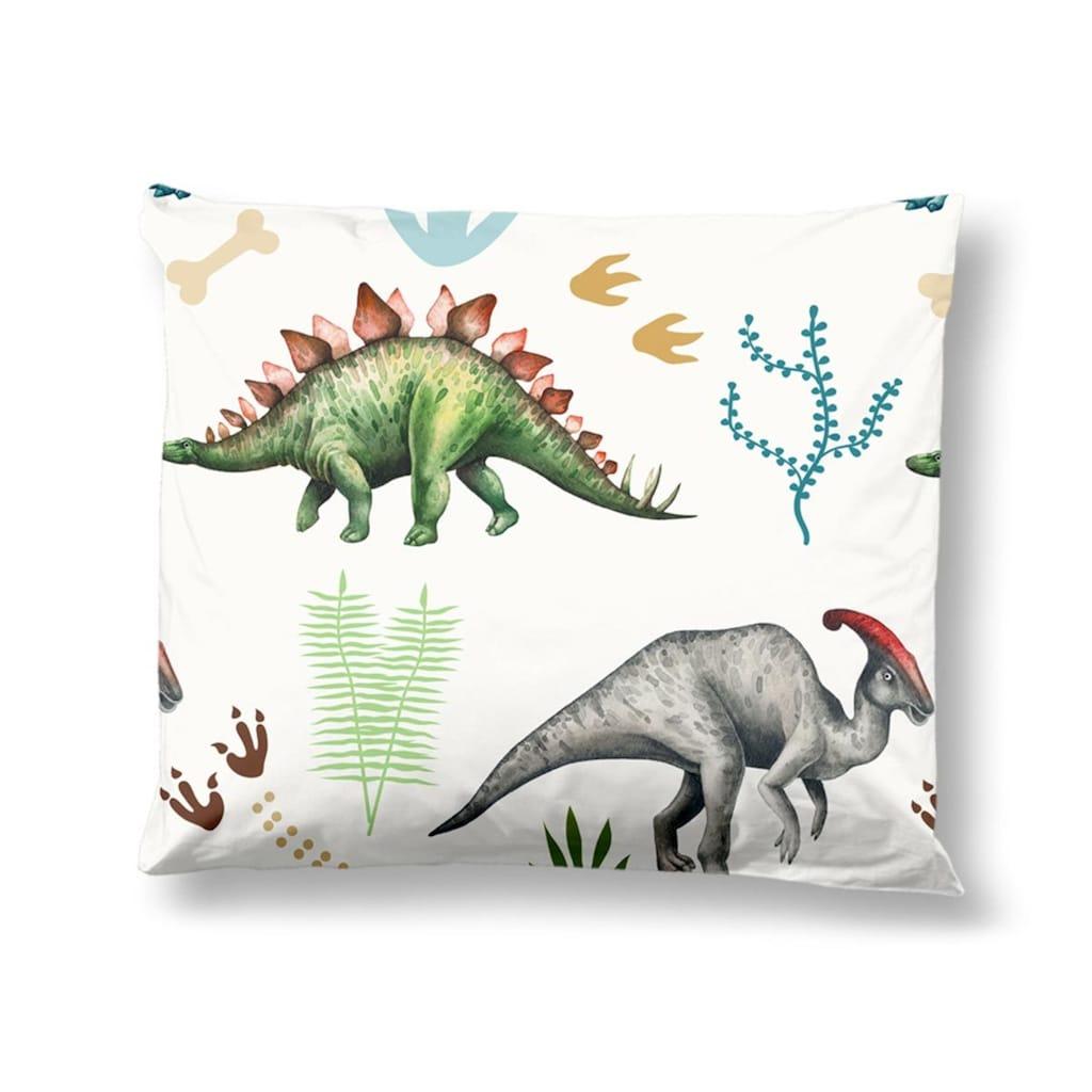 TRAUMSCHLAF Jugendbettwäsche »Dinosaurier«, aus glatter 100% Baumwolle