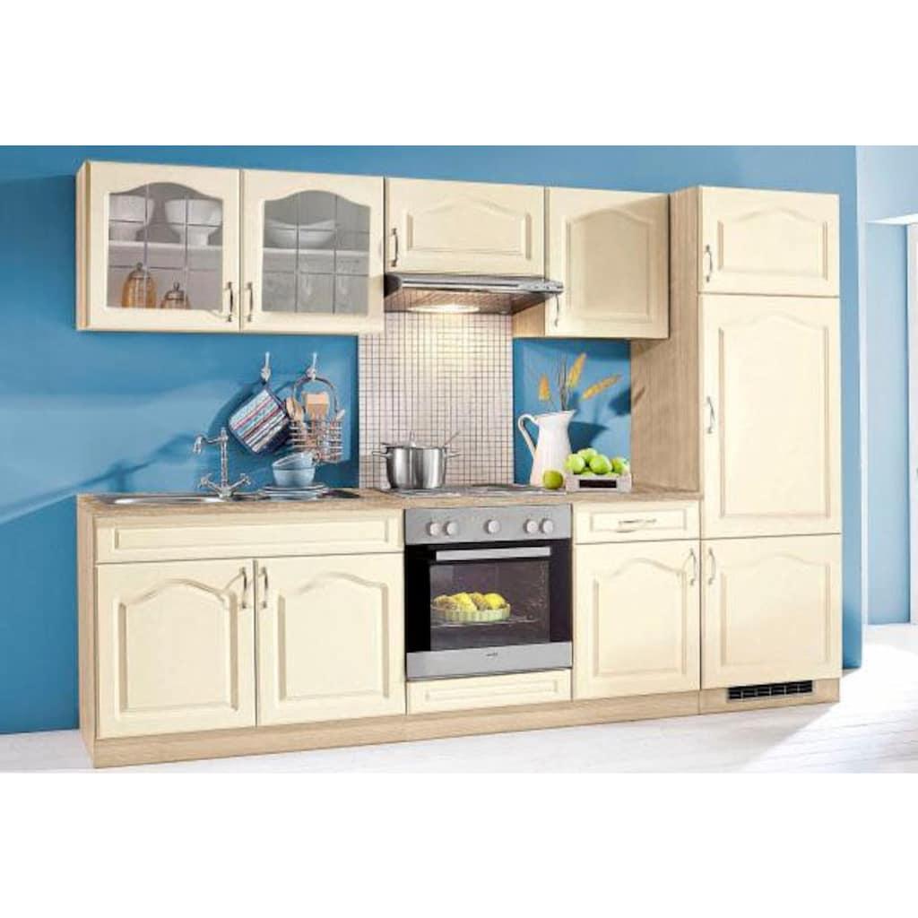 wiho Küchen Küchenzeile »Linz«, mit E-Geräten, Breite 280 cm
