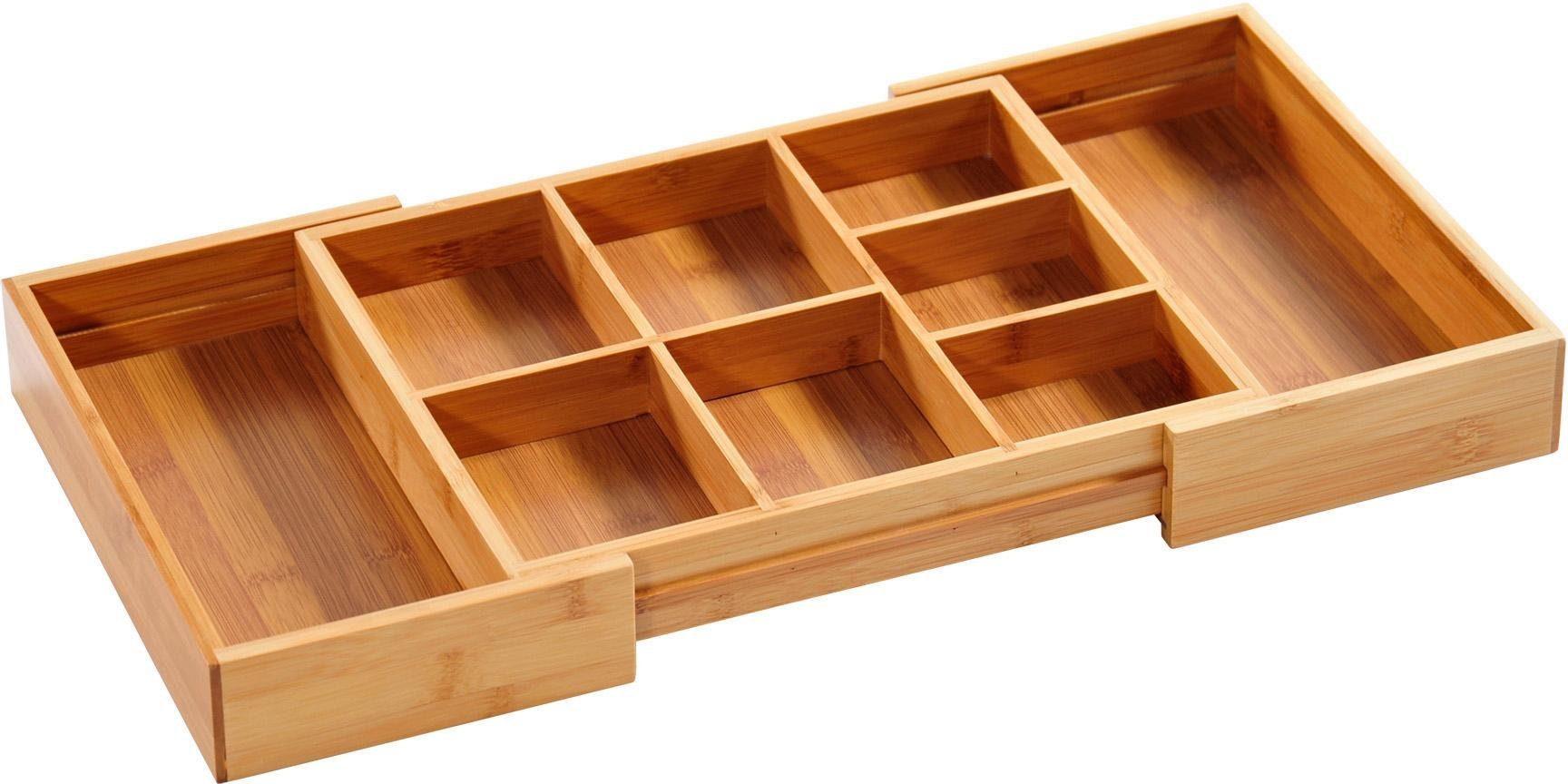 KESPER for kitchen & home Aufbewahrungsbox, doppelseitig ausziehbar beige Körbe Boxen Regal- Ordnungssysteme Küche Ordnung Aufbewahrungsbox