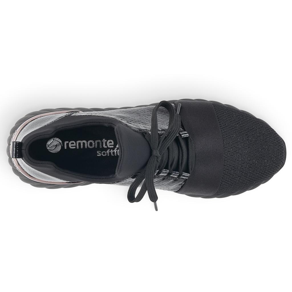Remonte Slip-On Sneaker, mit feiner Snake-Prägung