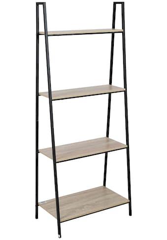 axentia Standregal »Regal, Eisen, mit 4 Holzablagen« kaufen