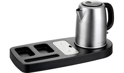 grossag Wasserkocher »WT 100 & WK 68«, 1,2 l, 2200 W, inkl. welcome-Tray aus schwarzem... kaufen