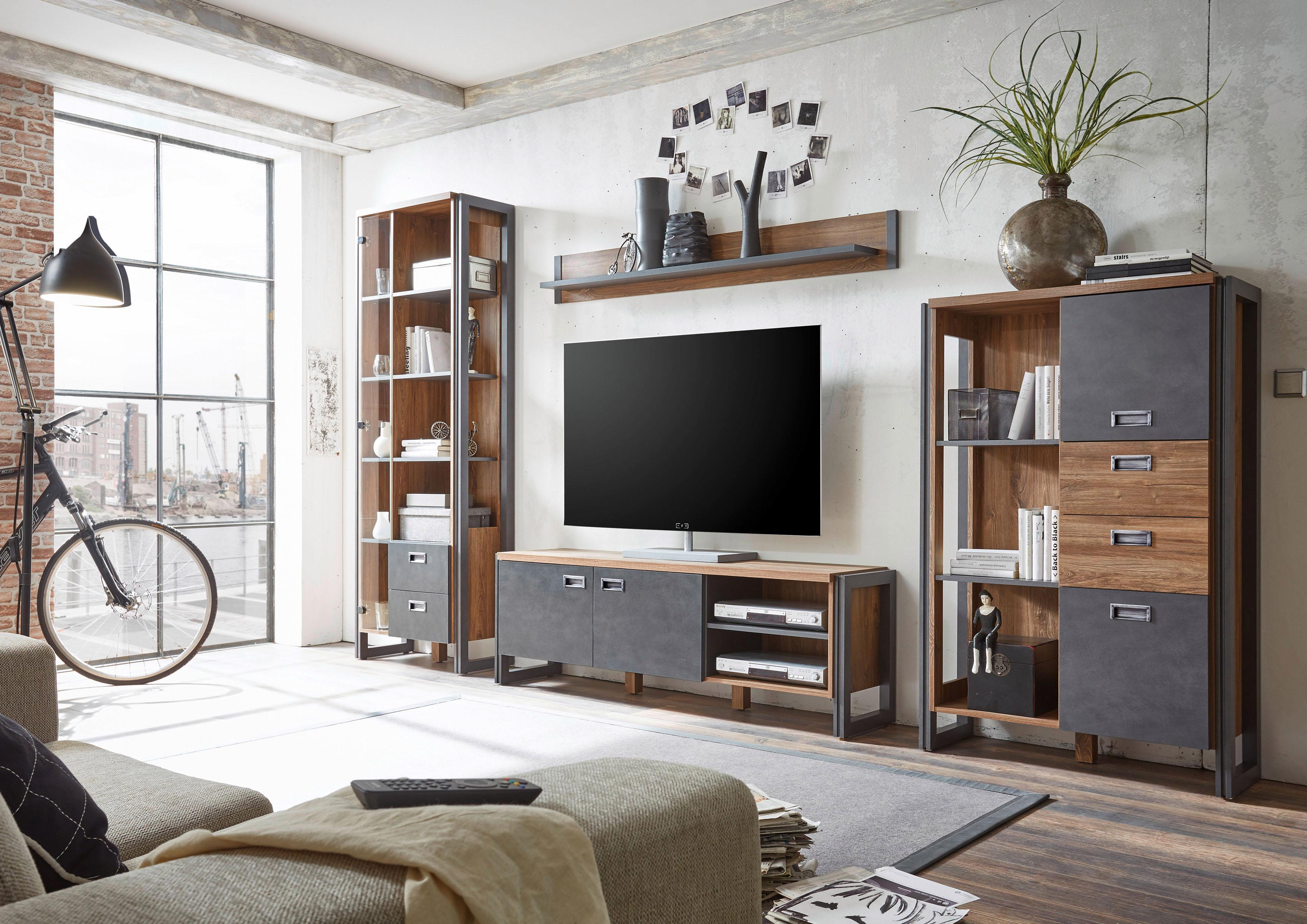 Home affaire Wohnwand Detroit Set 4 (Set 4-tlg)