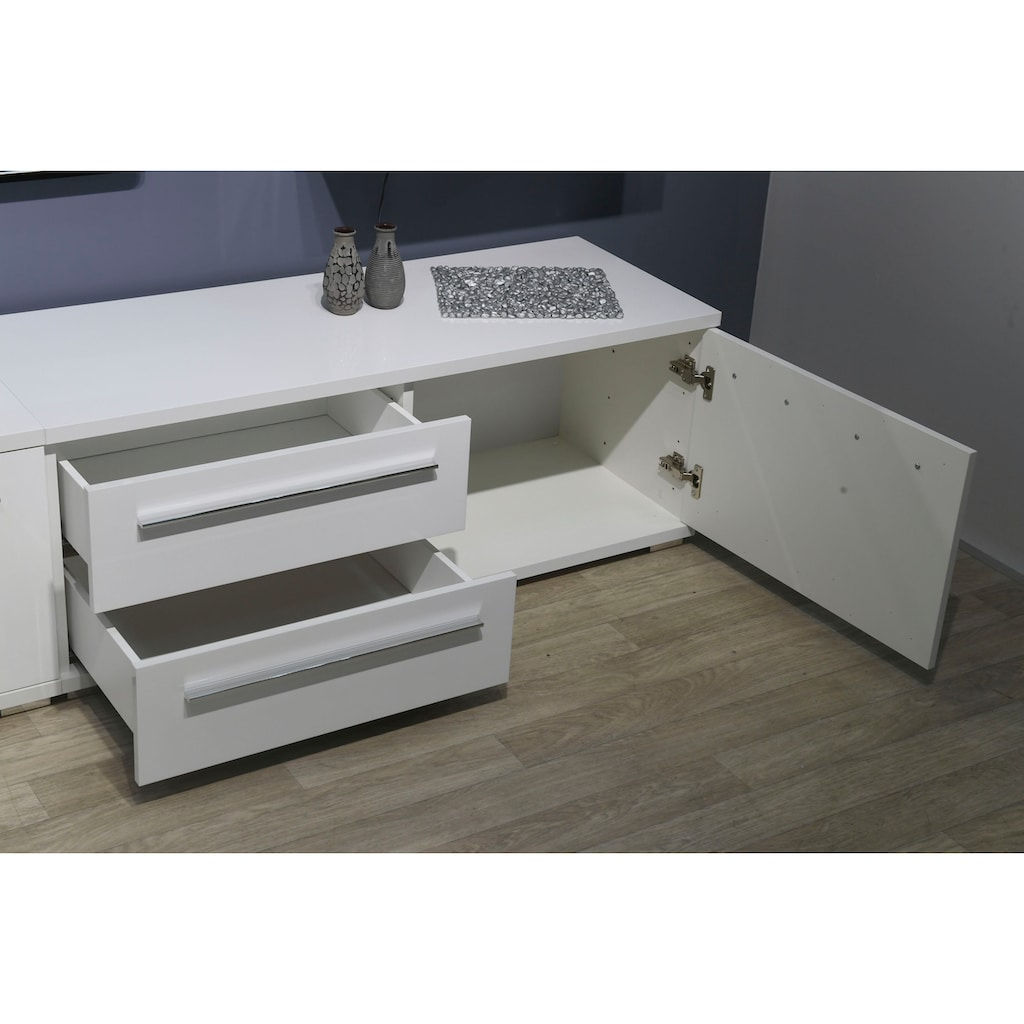 Places of Style TV-Board »Piano«, UV lackiert, mit Soft-Close-Funktion