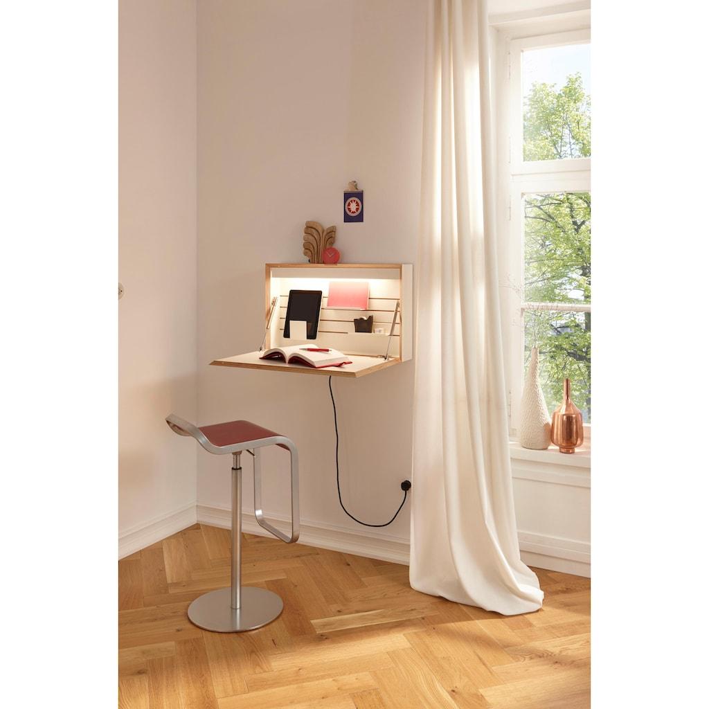 Müller SMALL LIVING Wandsekretär »FLATBOX«, hängend, wahlweise LED Beleuchtung mit Touch-Funktion oder An/Aus-Schalter inklusive integrierter Steckdose