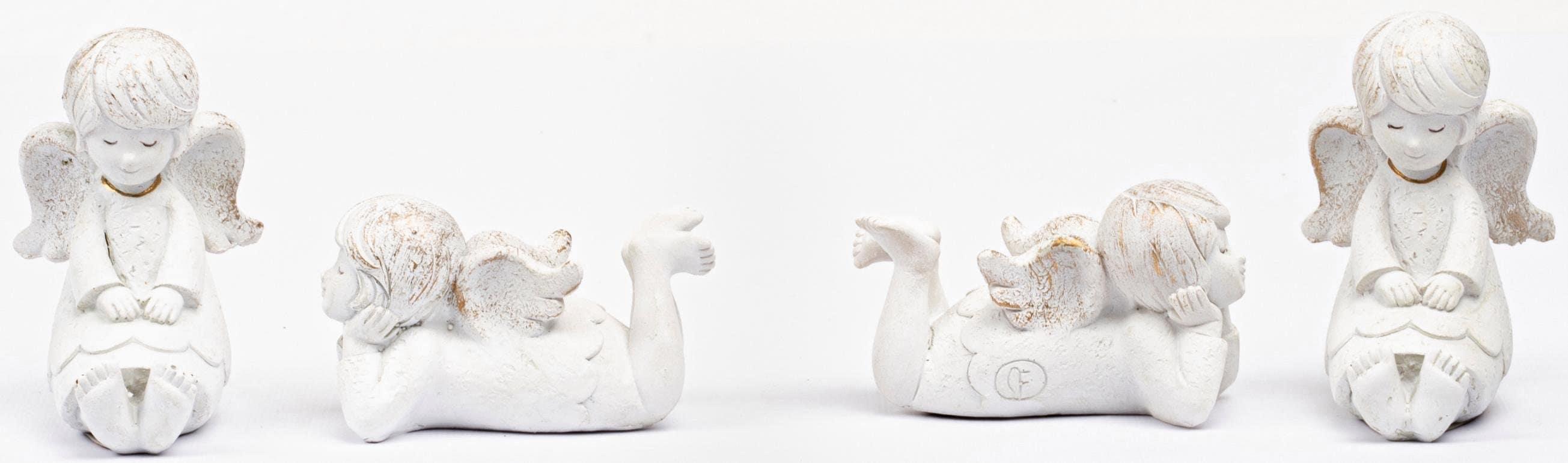 Fabriano Engelfigur Elisa weiß Engelfiguren Figuren Skulpturen Wohnaccessoires