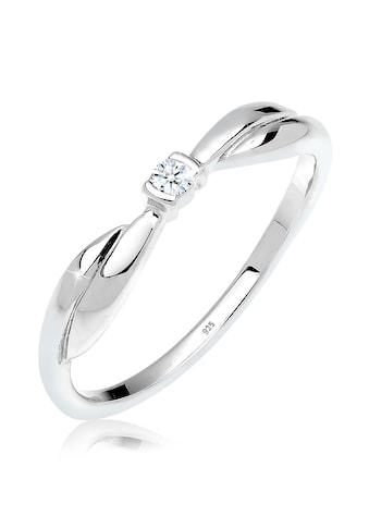 Diamore Diamantring »Schleife Verlobung Diamant 0.03 ct. 925 Silber« kaufen