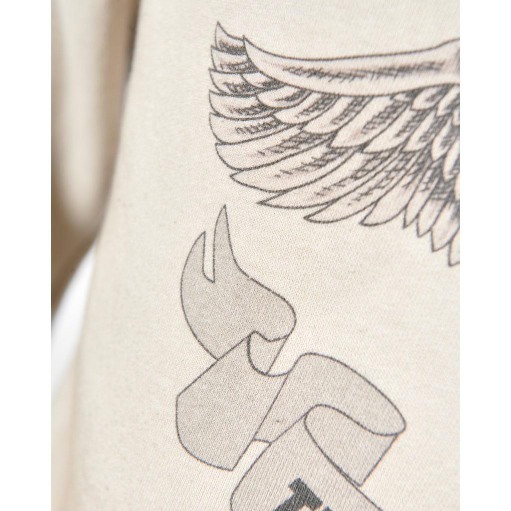 TOP GUN Sweatshirt »Smoking Monkey«