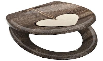 SCHÜTTE WC - Sitz »Wood Heart«, mit Absenkautomatik kaufen