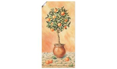 Artland Wandbild »Orangenbaum I«, Pflanzen, (1 St.), in vielen Größen & Produktarten -... kaufen
