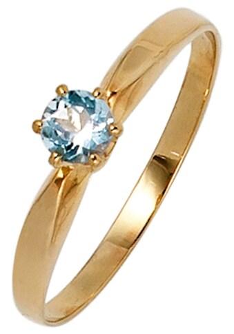 JOBO Fingerring, 585 Gold mit Aquamarin kaufen