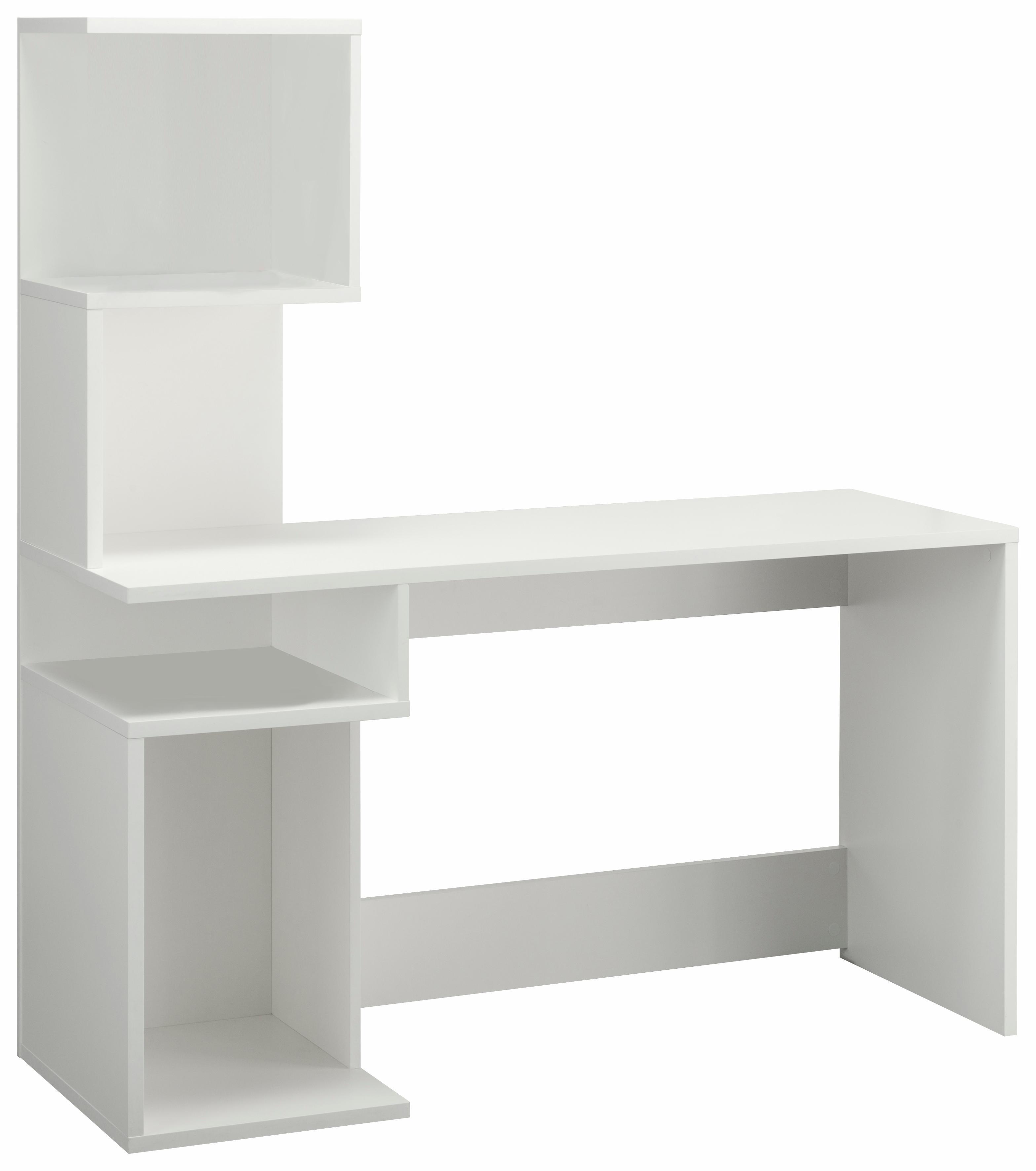 Schreibtisch Alice mit 4 Fächern und frei im Raum stellbar