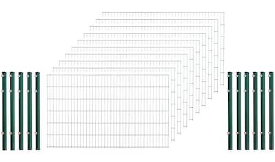 ARVOTEC Set: Doppelstabmattenzaun 123 cm hoch, 10 Matten für 20 m, 11 Pfosten kaufen