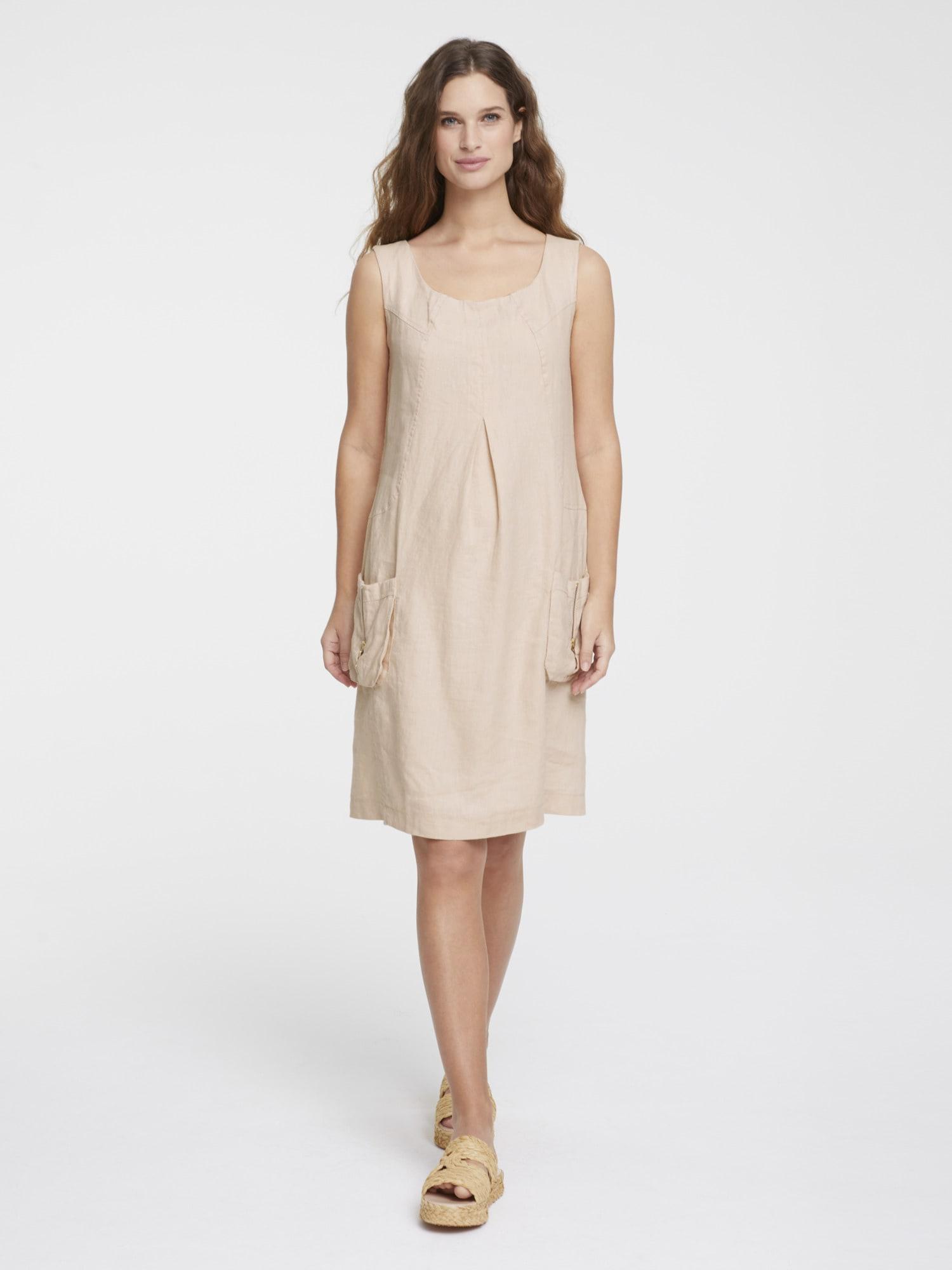 heine CASUAL Leinenkleid mit aufgesetzten Ballontaschen