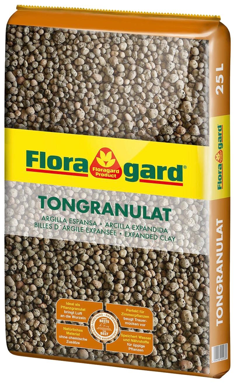 Floragard Tongranulat, 25 Liter braun Zubehör Pflanzen Garten Balkon Tongranulat