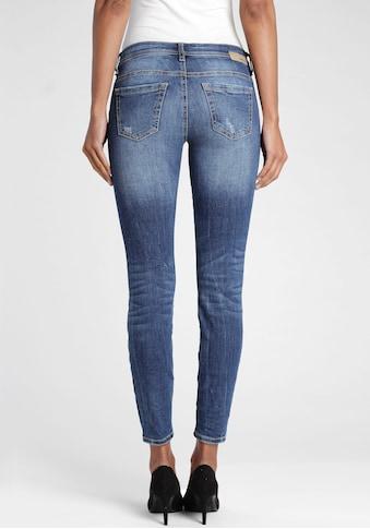 GANG Skinny-fit-Jeans »Faye«, mit Destroyed-Effekten kaufen