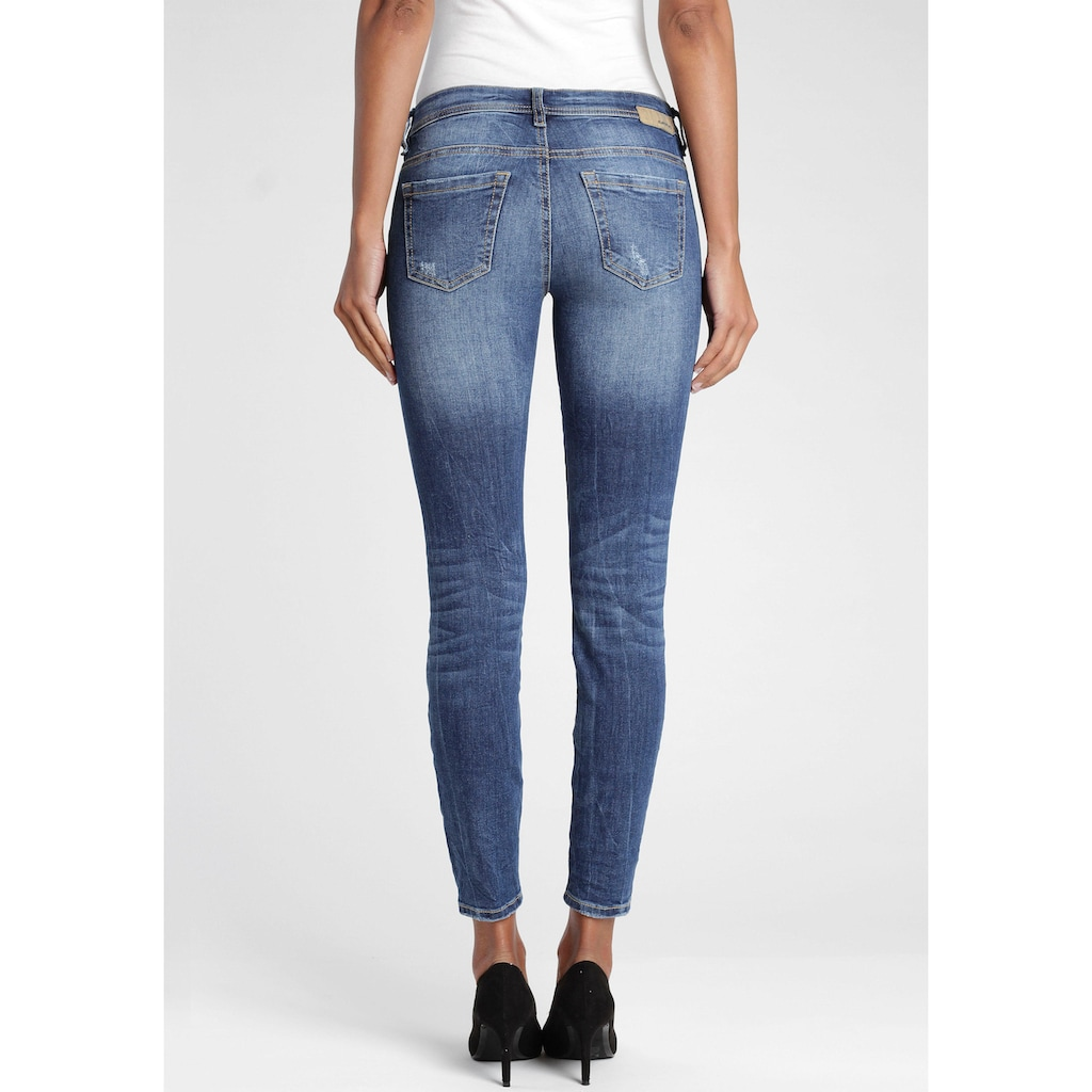 GANG Skinny-fit-Jeans »Faye«, mit Destroyed-Effekten