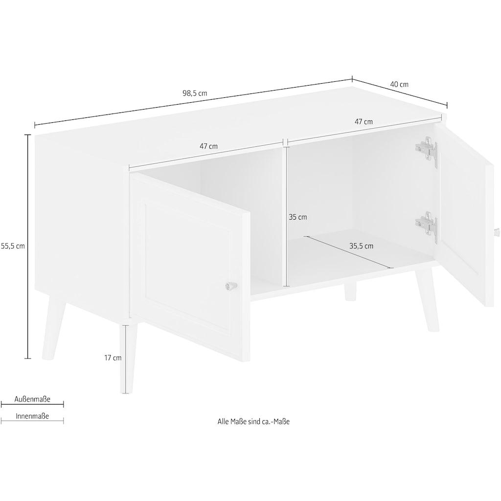 "Home affaire Bank »Tropical«, Bank ""Tropical"", Metallgriffe mit Kristall Swarovski, Breite 98,5 cm"