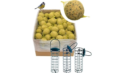 DOBAR Set: Vogelfutter »Meisenknödel«, 200 Stk. mit Netz inkl. 3 Futterspender kaufen