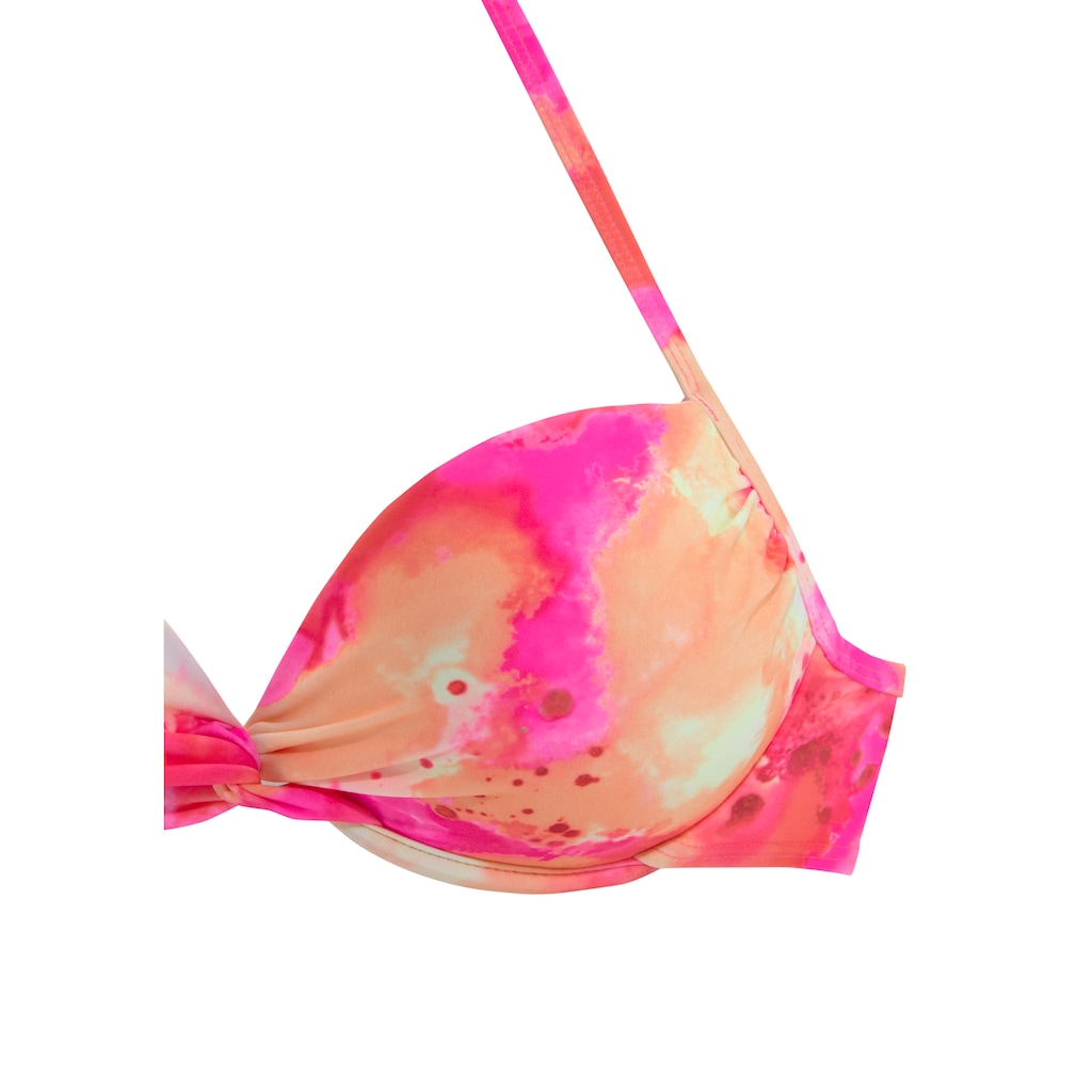 Venice Beach Push-Up-Bikini, mit Tie Dye Effekt