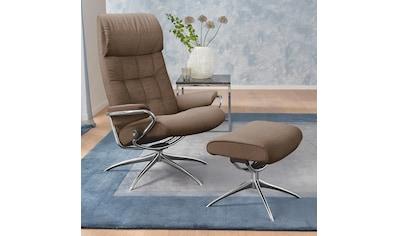 Stressless® Relaxsessel »London«, mit Hocker, High Back, mit Star Base, Gestell Chrom kaufen