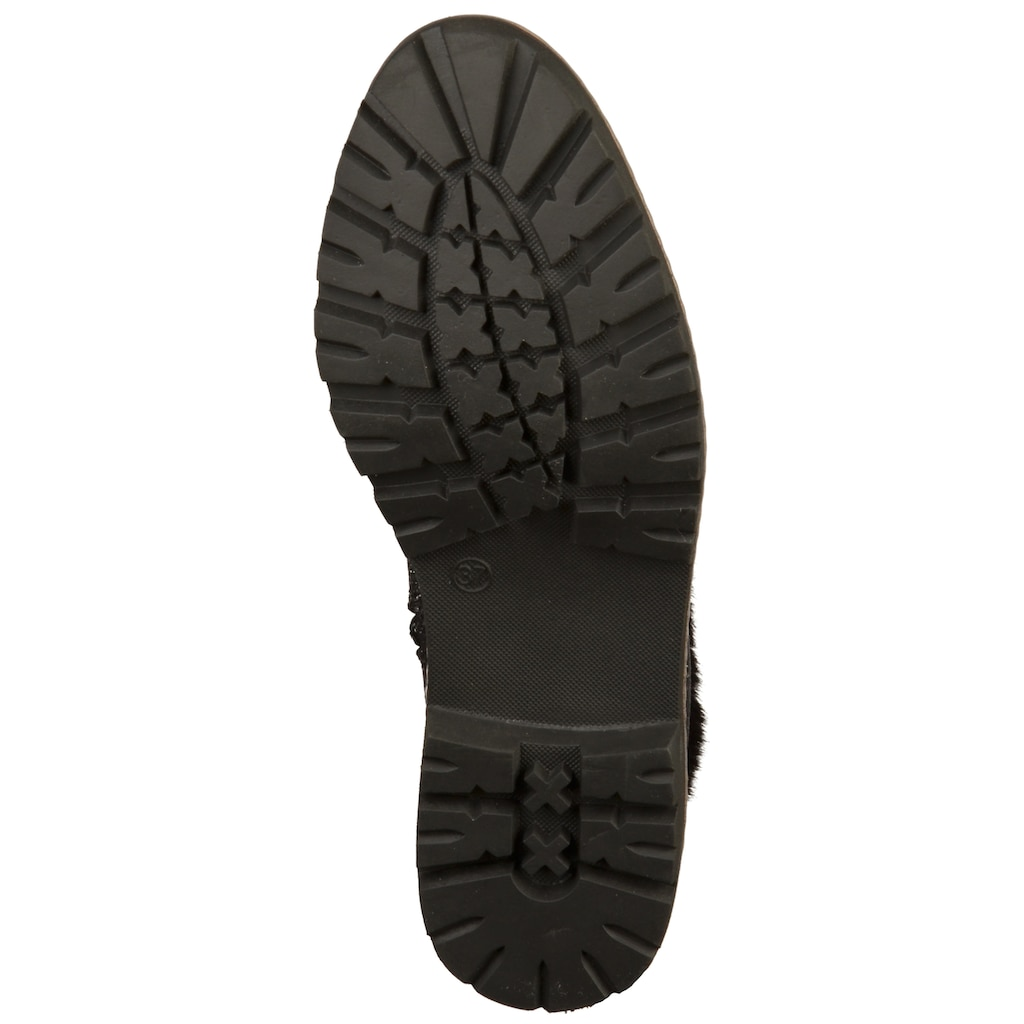 MARCO TOZZI Schnürstiefelette »Textil«
