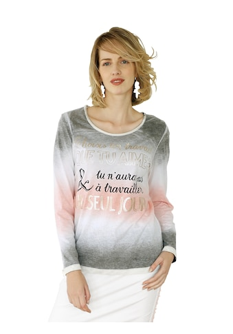 Amy Vermont Langarmshirt, mit Schriftzug im Vorderteil kaufen