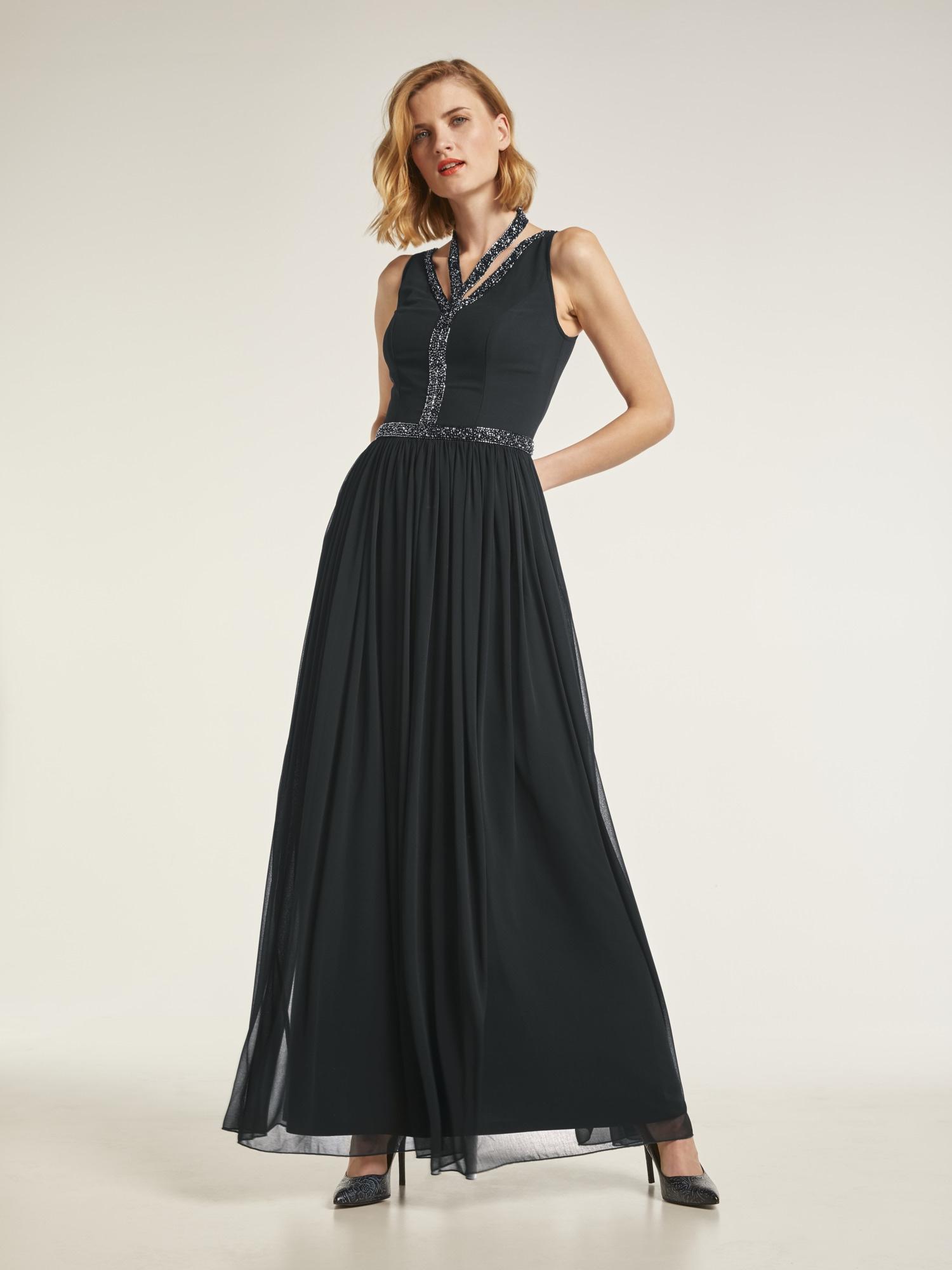 heine STYLE Abendkleid mit raffiniertem Ausschnitt