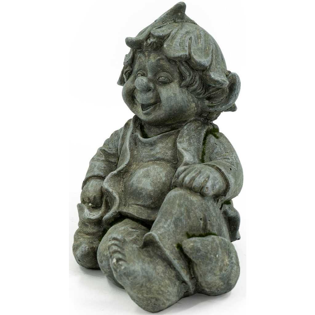 NOOR LIVING Gartenfigur »Gnom sitzend«, (1 St.)