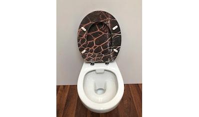 ADOB WC - Sitz »Leder«, mit messingverchromten Scharnieren kaufen